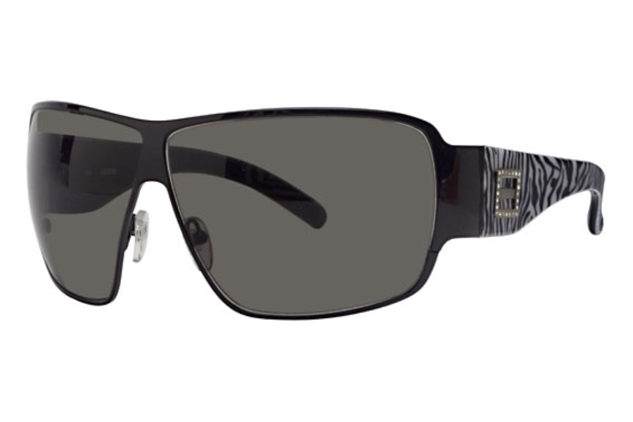 Guess GU 6285ST Sunglasses in Black Zebra w/Grey Lenses