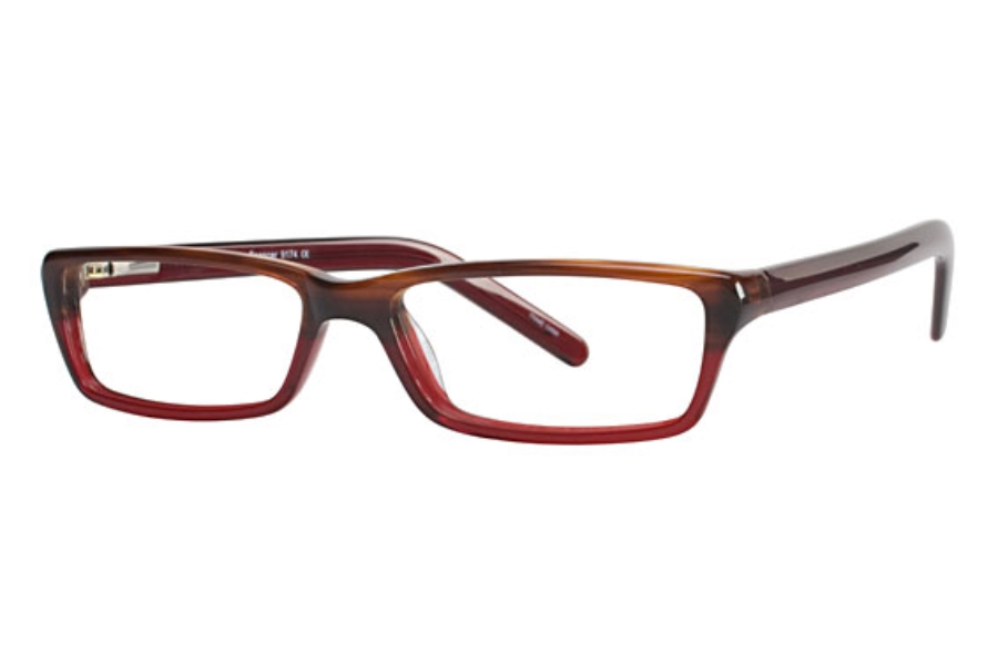 Valerie Spencer 9174 Eyeglasses in Burgundy/Onyx