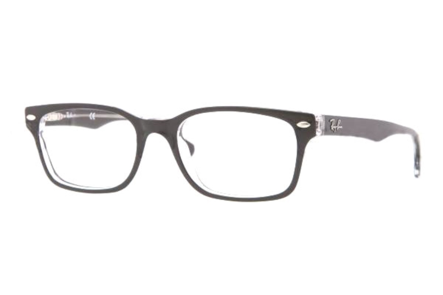 Ray-Ban RX 5286 Eyeglasses in 2034 Top Black On Transparent (51 eye size only)