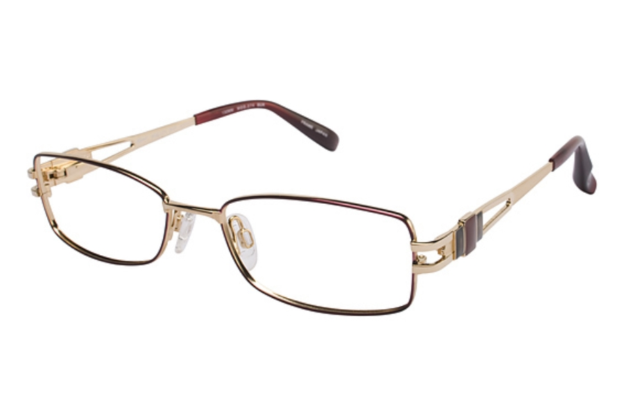 Tura 274 Eyeglasses in BURGUNDY/GOLD