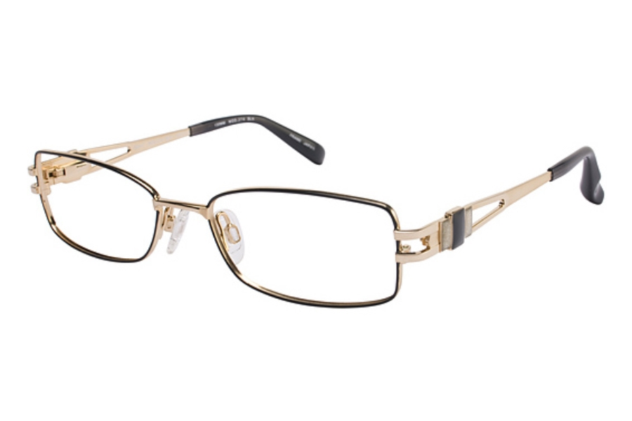 Tura 274 Eyeglasses in BLACK/GOLD