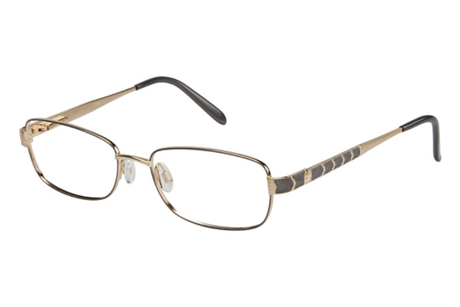 Tura 516 Eyeglasses in PEWTER/GOLD (55 eye size only)