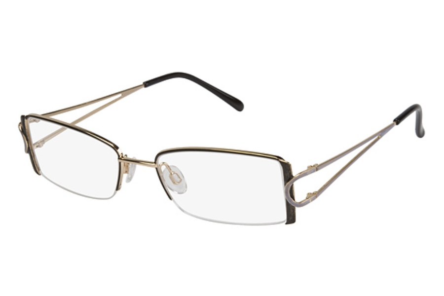 Tura 324 Eyeglasses in BLACK/GOLD