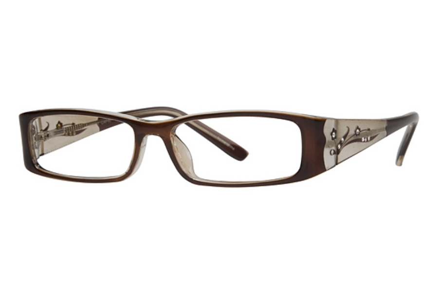 Capri Optics Traditional Plastics Vicky Eyeglasses in Brown
