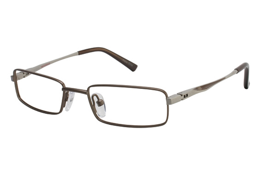 New Balance Kids NBK 38 Eyeglasses in LIGHT BROWN