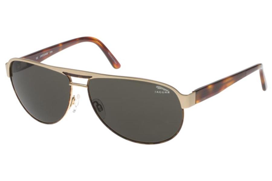 c21ca0ff9b3 Jaguar Jaguar 37545 Sunglasses in GOLD-TORTOISE GREEN LENSES (510) ...