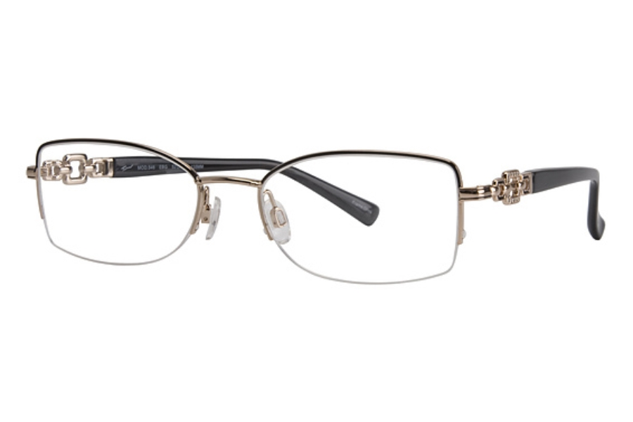 Tura 546 Eyeglasses in EBONY/GOLD