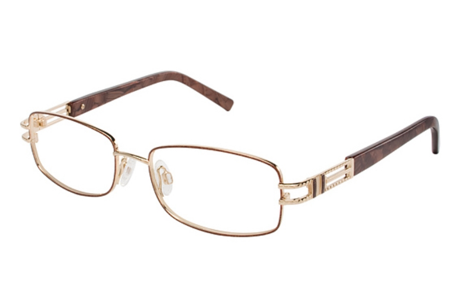 Tura 592 Eyeglasses in COPPER BROWN/GOLD