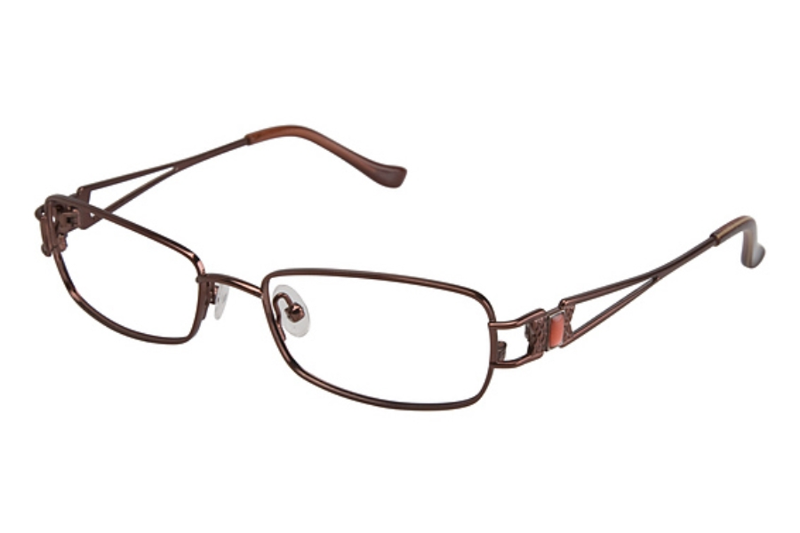 Tura 596 Eyeglasses in BURGUNDY