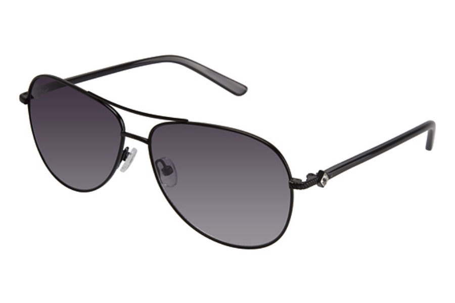 Tura 018 Sunglasses in SEMI MATTE BLK W/GRAY w/Gray Lenses