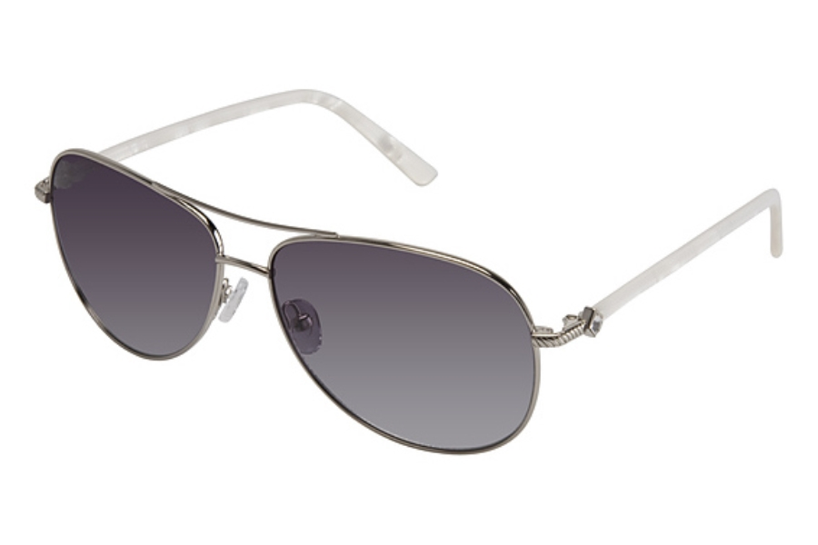 Tura 018 Sunglasses in SHINY SILVER W/GRAY w/Gray Lenses