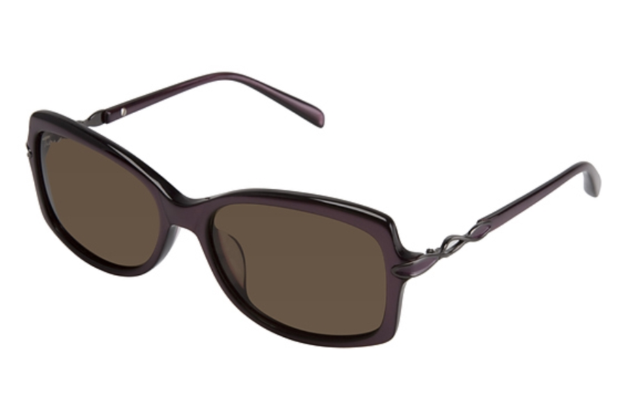 Tura 016 Sunglasses in PURPLE OPAQUE/SEMI MATTE GUN