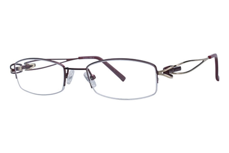 Amadeus A960 Eyeglasses in WN/GLD WINE/GOLD