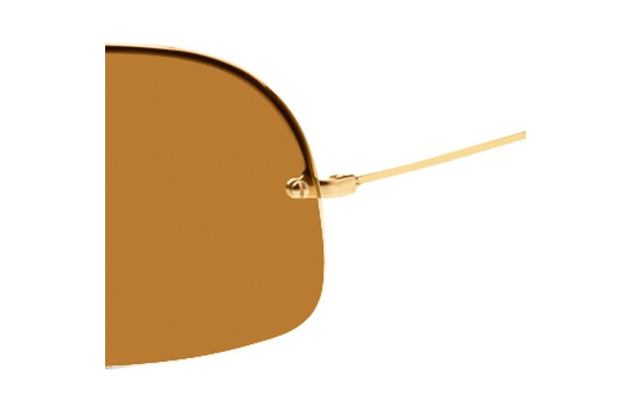 aedd89f0dd ... Ray-Ban RB 3160 (Wings II Pande) Sunglasses in Gold w  brown ...
