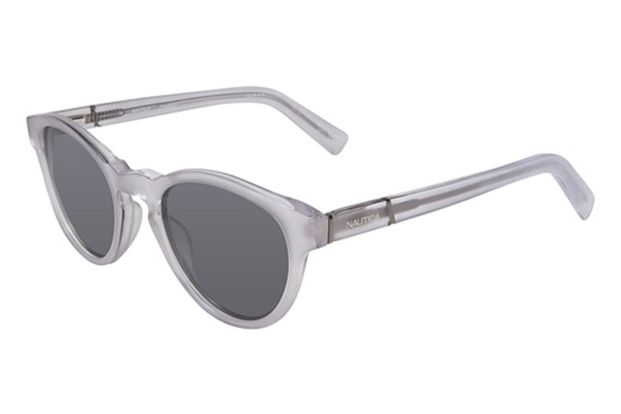 Nautica N6155S Sunglasses in 112 Frosted Crystal w/ Lenses