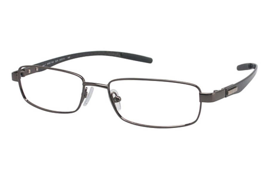 Tura T104 Eyeglasses in Gunmetal/Black Carbon Fiber