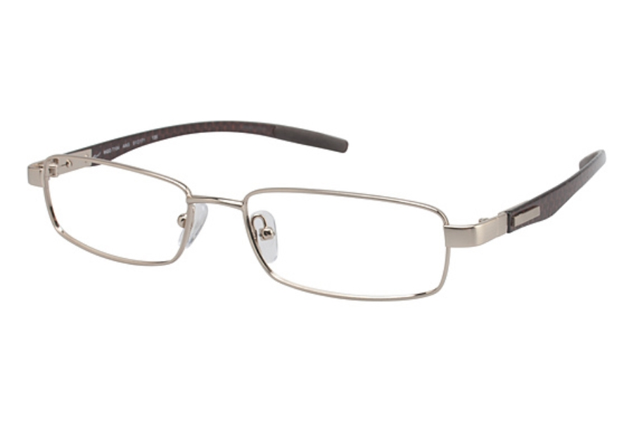 Tura T104 Eyeglasses in Antique Gold/Brown Carbon Fiber