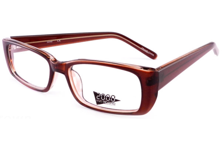 2000 and Beyond 2000 and Beyond 3049 Eyeglasses in Brown