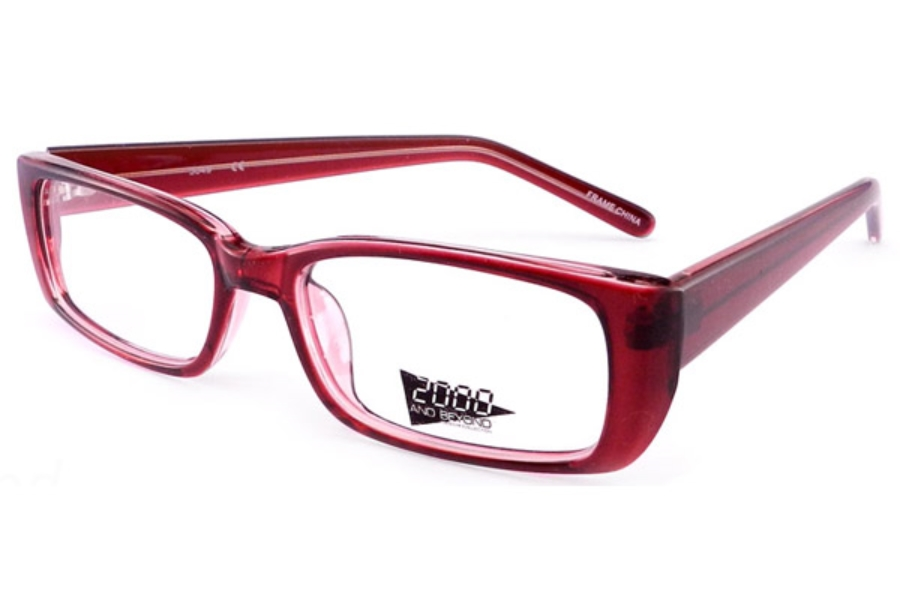 2000 and Beyond 2000 and Beyond 3049 Eyeglasses in Red