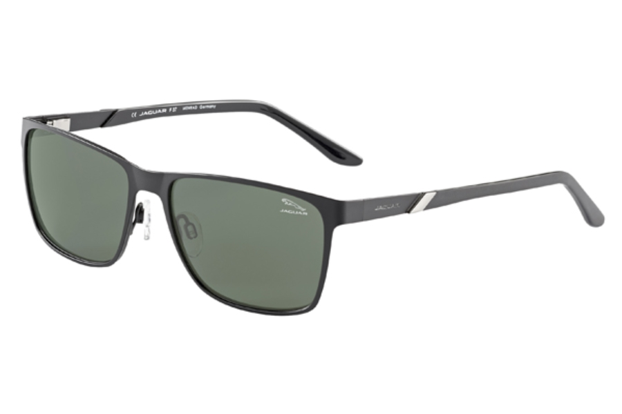 Jaguar Jaguar 37555 Sunglasses in 6100  Black-Silver/Ar Coated Polarized Grey Lenses