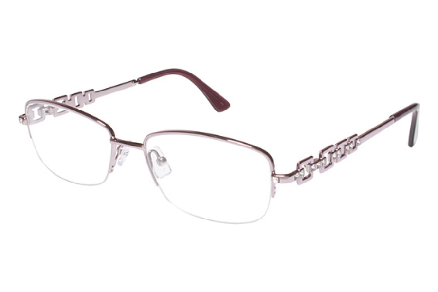 Tura TE218 Eyeglasses in PIN Pink w/ Crystal