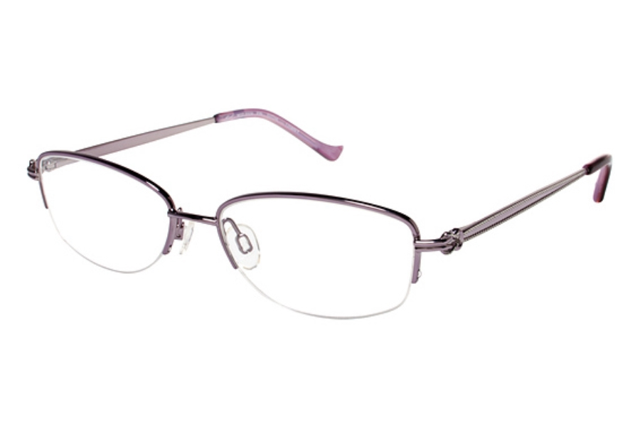 Tura R506 Eyeglasses in PIN Pink w/ Silver Accent