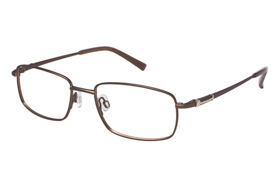 Tura Mens T120 Eyeglasses in BRN Brown