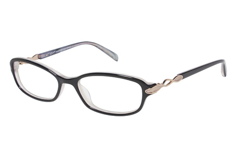 Tura R304 Eyeglasses in Black with Gold