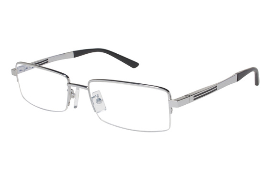 Tura Mens T124 Eyeglasses in Silver