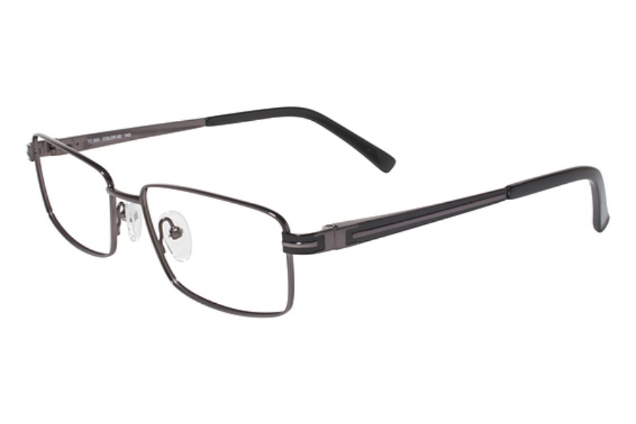 Durango Series TC860 Eyeglasses in C-2 Gun/Black