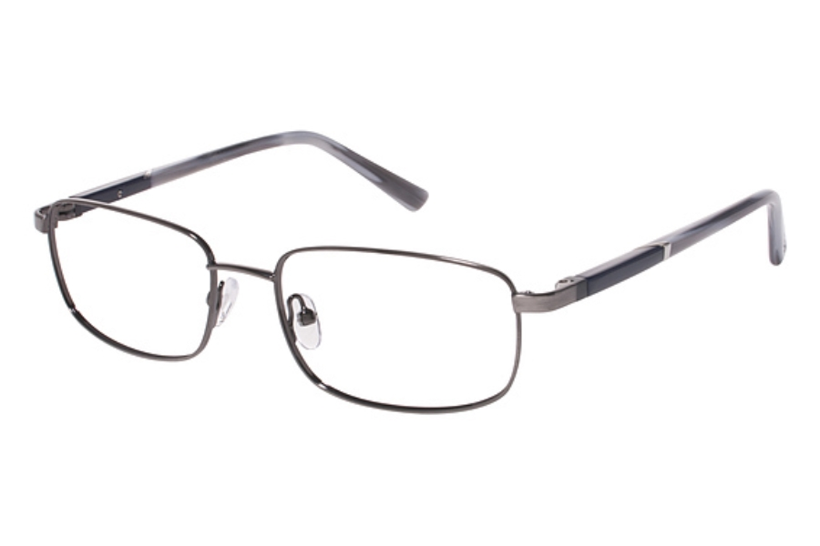 Tura Mens T119 Eyeglasses in GUN Gunmetal
