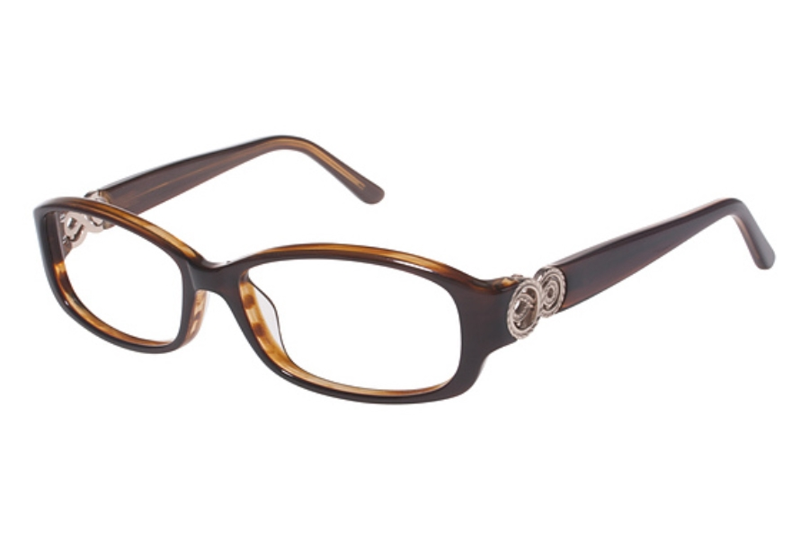 Tura R508 Eyeglasses in BRN Brown w/ Gold