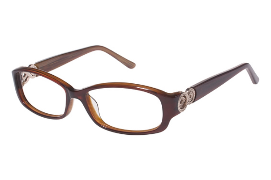 Tura R508 Eyeglasses in BUR Burgundy w/ Gold