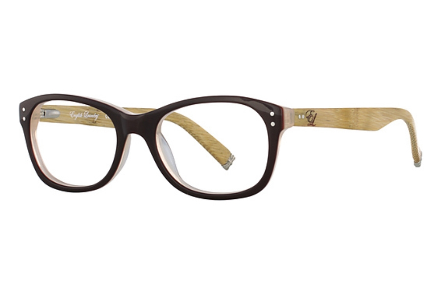 English Laundry Factory Eyeglasses in Brown Bamboo