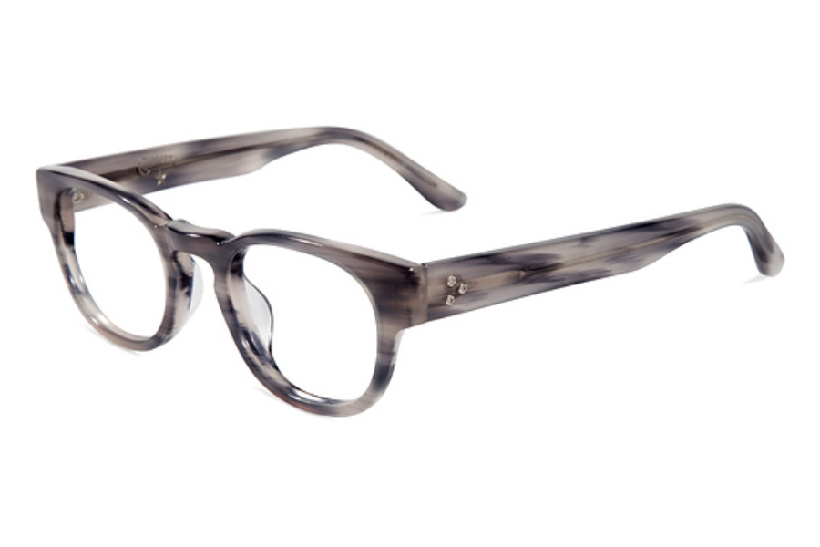 Converse Black Canvas Z001 Eyeglasses in Smoke Horn