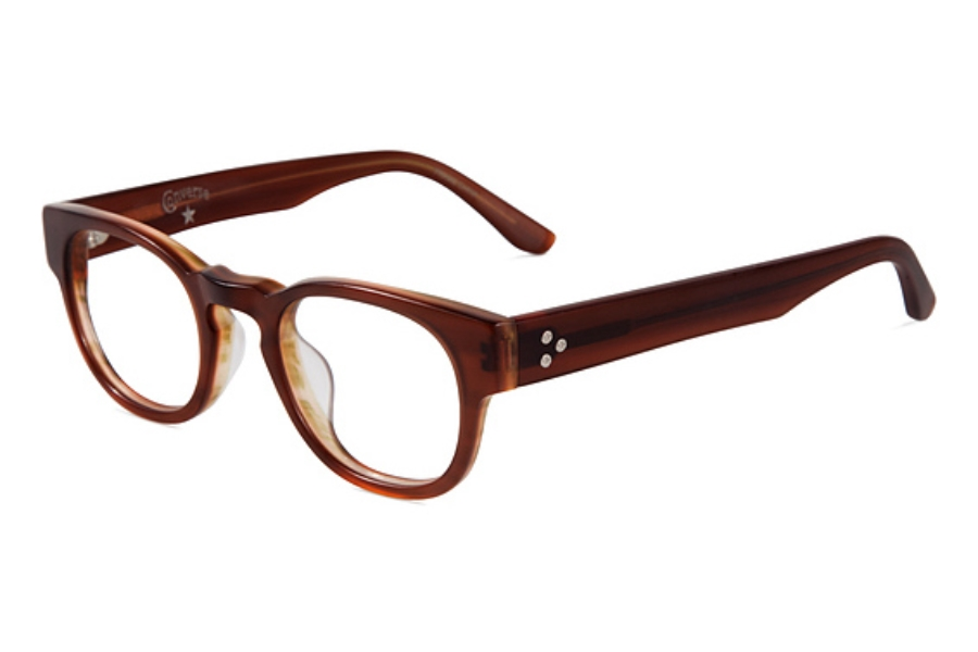 Converse Black Canvas Z001 Eyeglasses in Matte Brown