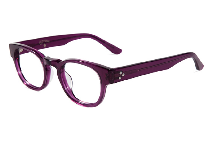 Converse Black Canvas Z001 Eyeglasses in Purple