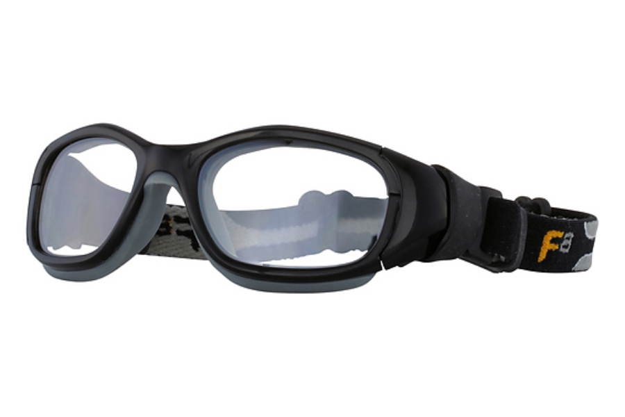 F8 by Liberty Sport Slam Goggle XL Goggles in Shiny Black / Grey