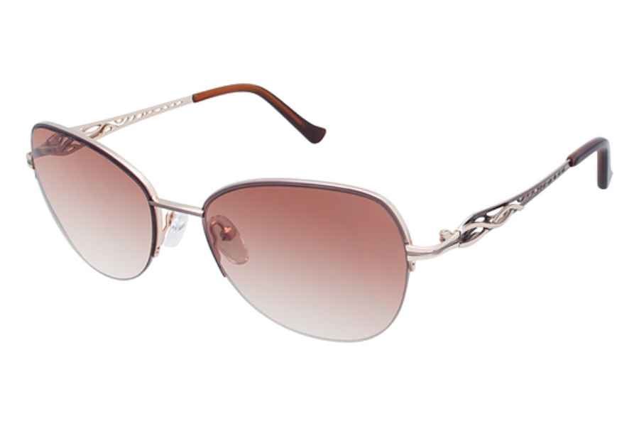 Tura 042 Sunglasses in BRN Brown/Gold