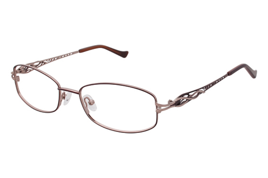 Tura R112 Eyeglasses in BRN Brown/Gold