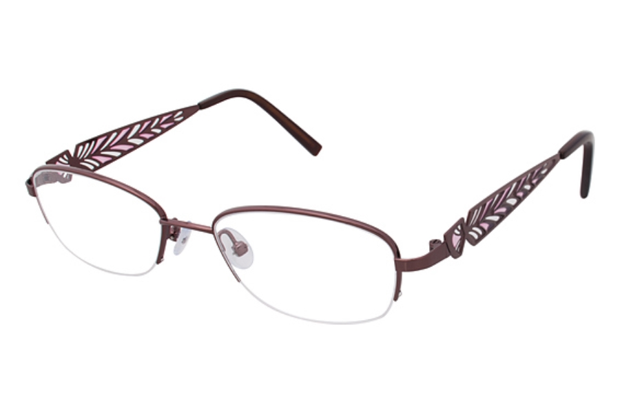 Tura R113 Eyeglasses in BRN Brown/Pink