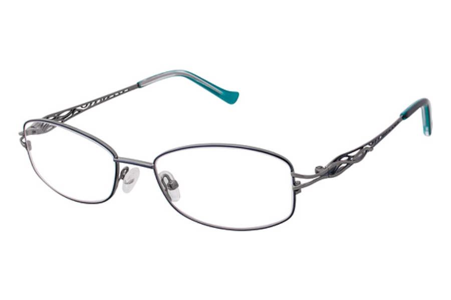Tura R112 Eyeglasses in NAV Navy/Gun