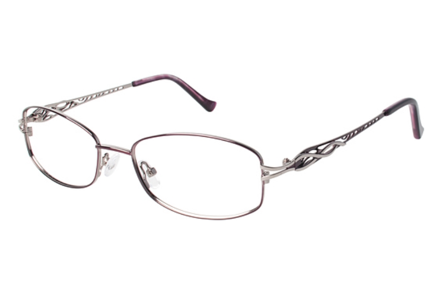Tura R112 Eyeglasses in BUR Burgundy/Brown