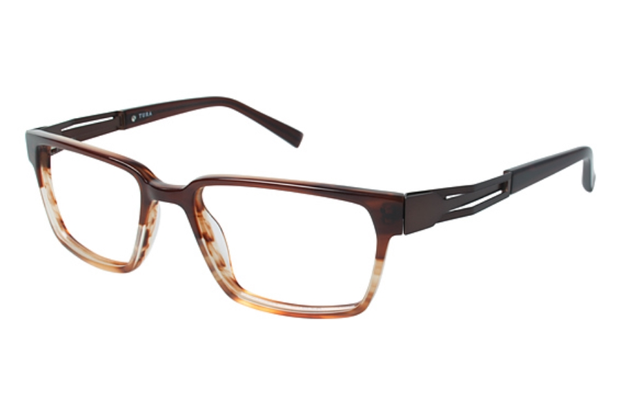 Tura Mens T131 Eyeglasses in BRN Brown
