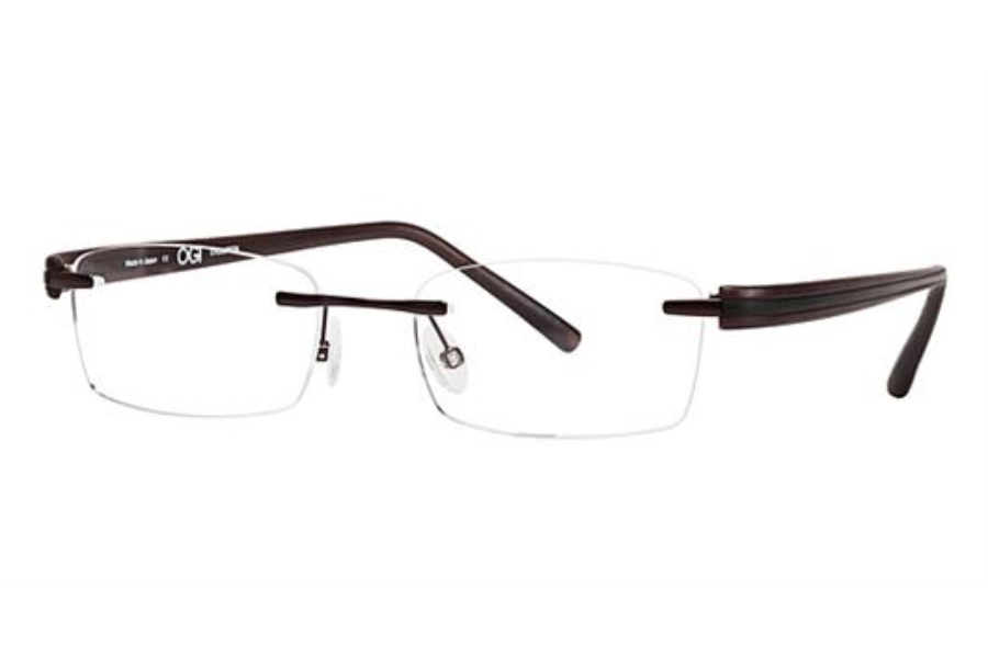 OGI Eyewear 502 Eyeglasses in 54 - Brown/Black