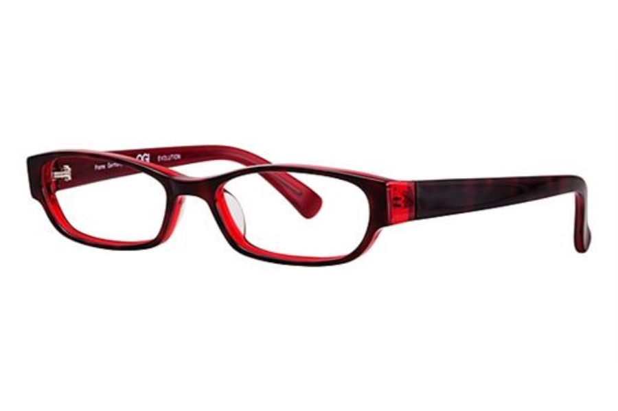 OGI Eyewear 7136 Eyeglasses in 410 TORT/RED