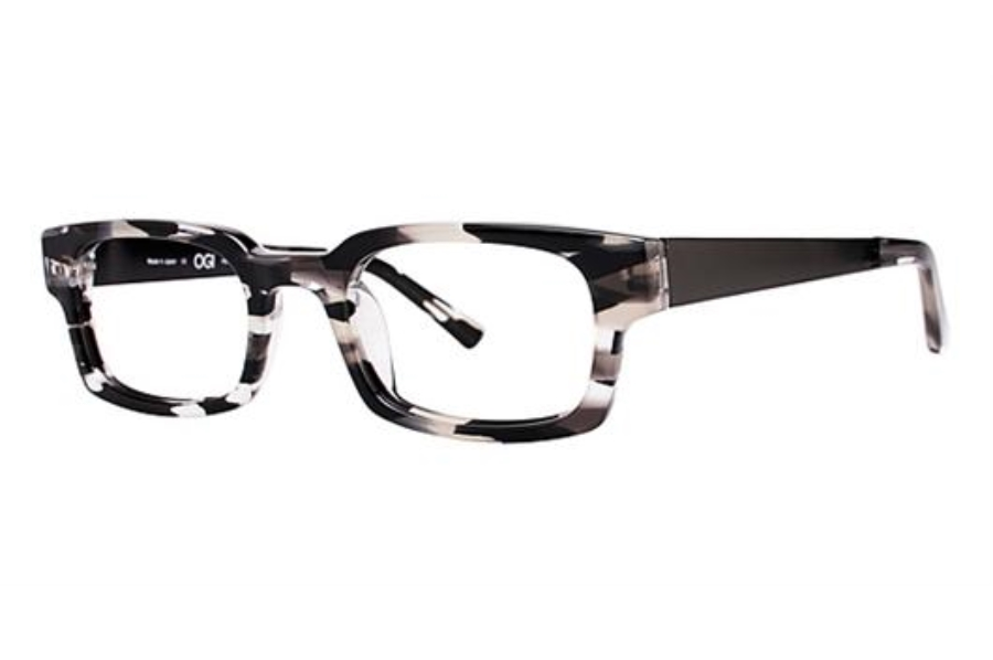 OGI Eyewear 7147 Eyeglasses in 1334 - BLACK-WHITE-CRYSTAL CAMOUFLAGE/BLACK