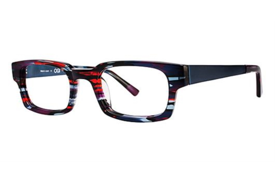 OGI Eyewear 7147 Eyeglasses in 1335 - RED-PURPLE CAMOUFLAGE/BLUE