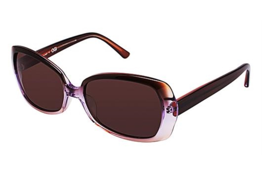 OGI Eyewear 8049 Sunglasses in 1285 - BROWN PURPLE GRADIENT/BROWN