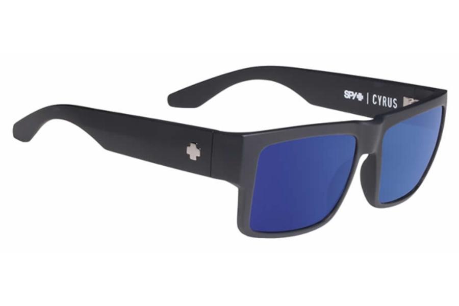 e563452fbf ... Spy CYRUS Sunglasses in Soft Matte Black  Happy Bronze W  Blue Spectra  ...
